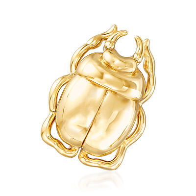 14kt Yellow Gold Scarab Pin Pendant, , default