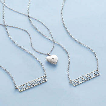"Sterling Silver ""Grandma"" Bar Necklace, , default"