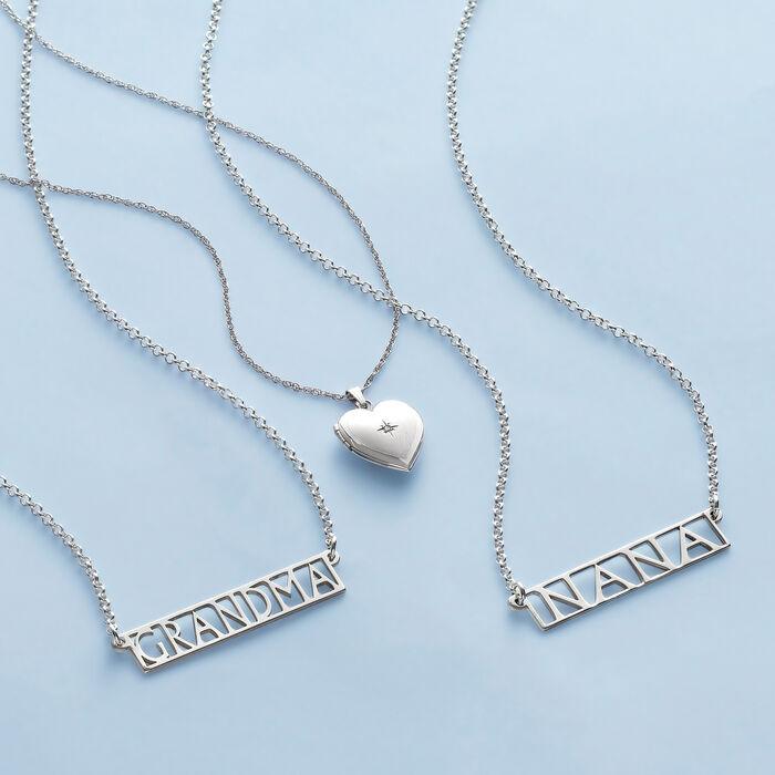 "Sterling Silver ""Grandma"" Bar Necklace"