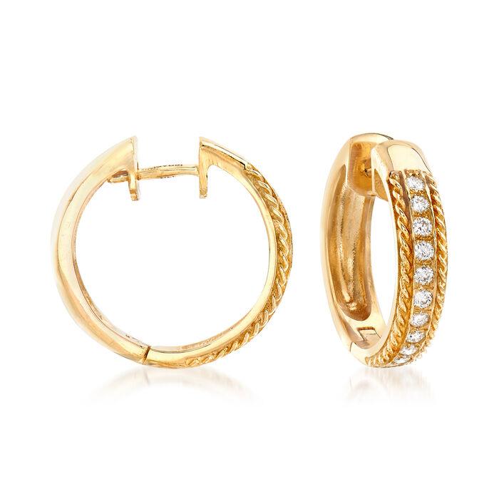 .44 ct. t.w. Diamond Hoop Earrings in 14kt Yellow Gold