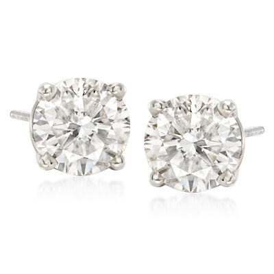 C. 2000 Vintage 3.34 ct. t.w. Diamond Stud Earrings in 14kt White Gold, , default