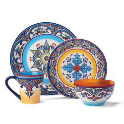 """Zanzibar"" Multicolored Stoneware Dinnerware, , default"