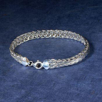 Sterling Silver Medium Wheat-Link Bracelet, , default