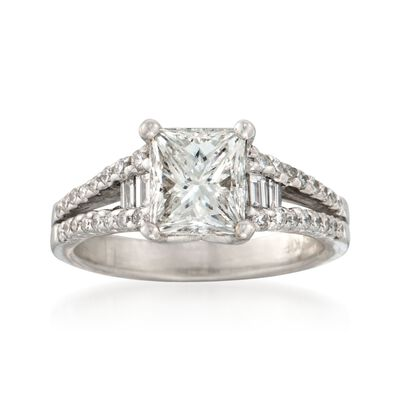 2.47 ct. t.w. Certified Diamond Engagement Ring in 18kt White Gold