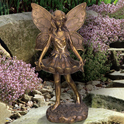 Regal Fairy Skirt Bird Feeder Outdoor Statue, , default