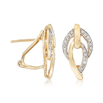 .15 ct. t.w. Diamond Marquise-Link Earrings in 14kt Yellow Gold, , default