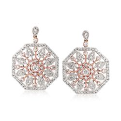 Simon G. .70 ct. t.w. Diamond Sunburst Earrings in 18kt Two-Tone Gold , , default