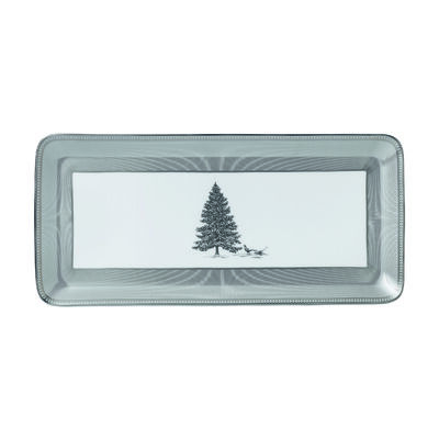 "Wedgwood ""Winter White"" Sandwich Tray, , default"