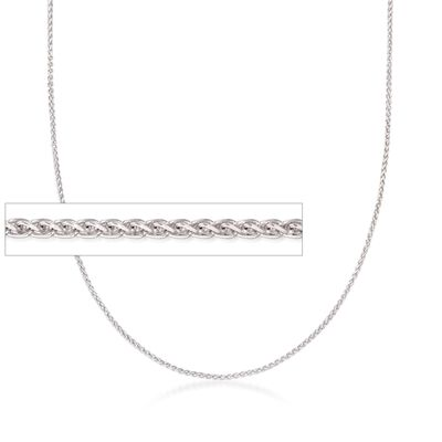 Italian 1mm Sterling Silver Adjustable Slider Wheat Chain Necklace, , default