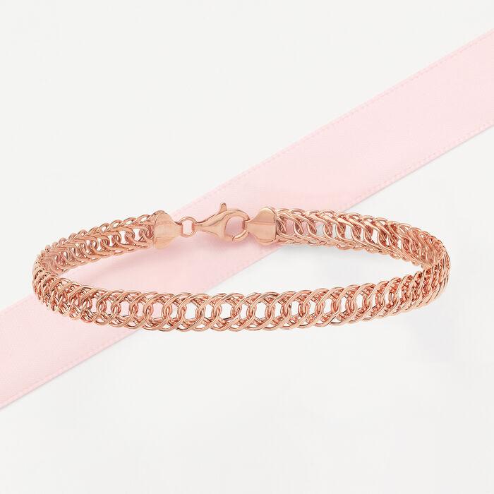 18kt Rose Gold Oval-Link Bracelet