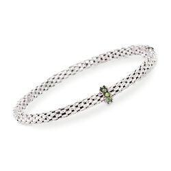 """Phillip Gavriel """"Popcorn"""" .40 ct. t.w. Green Peridot Bracelet in Sterling Silver, , default"""