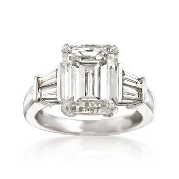 Majestic Collection 6.63 ct. t.w. Diamond Ring in 18kt White Gold, , default