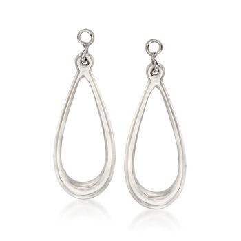 Sterling Silver Teardrop Earring Jackets, , default