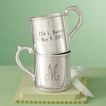 Cunill Baby's Sterling Silver Personalized Beaded Cup, , default