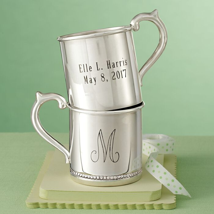 Cunill Baby's Sterling Silver Personalized Beaded Cup