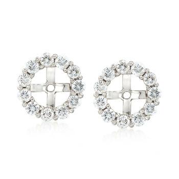 1.50 ct. t.w. Diamond Earring Jackets in 14kt White Gold, , default