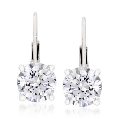 2.02 ct. t.w. CZ Earrings in Sterling Silver, , default