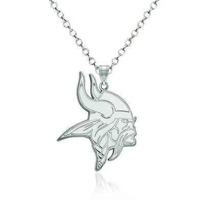 Sterling Silver NFL Minnesota Vikings Pendant Necklace. 18""