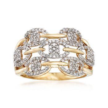 .50 ct. t.w. Diamond Openwork Ring in 14kt Yellow Gold, , default