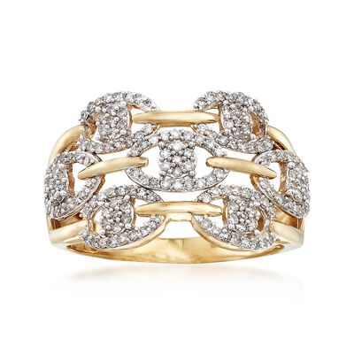 .50 ct. t.w. Diamond Openwork Ring in 14kt Yellow Gold, , default