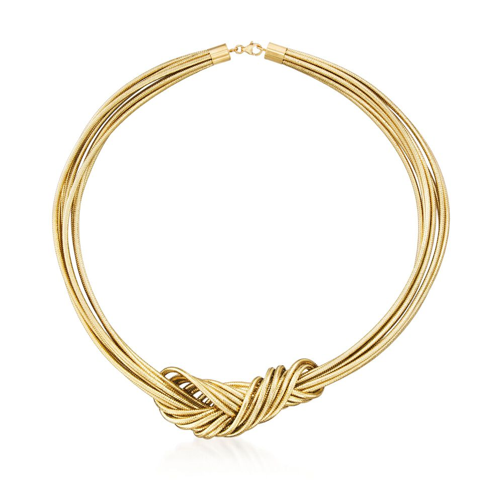 360c7d032ef92c Italian Flex Knot Necklace with 18kt Gold Over Sterling | Ross-Simons