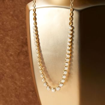 """2.00 ct. t.w. Diamond Necklace in 18kt Gold Over Sterling. 17"""""""