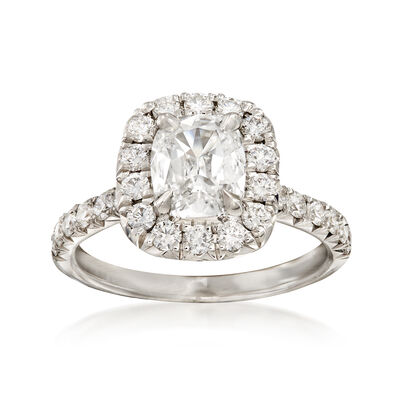 Henri Daussi 2.46 ct. t.w. Certified Diamond Engagement Ring in 18kt White Gold, , default