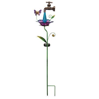 Regal Waterdrop Butterfly Solar Garden Stake