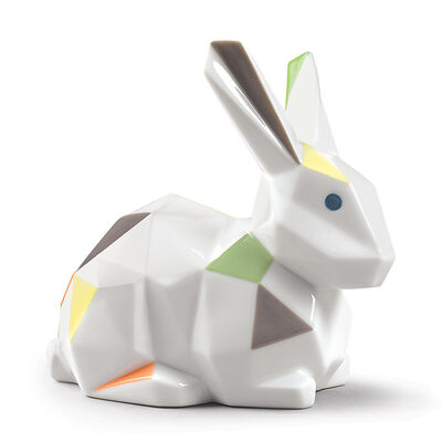 "Lladro ""Origami"" Porcelain Rabbit Figurine, , default"