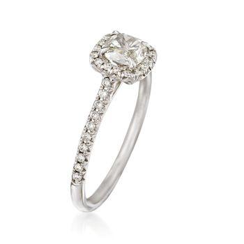 Henri Daussi .72 ct. t.w. Diamond Engagement Ring in 18kt White Gold