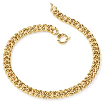 "Italian 18kt Yellow Gold Curb-Link Necklace. 20"", , default"