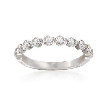 Henri Daussi .70 ct. t.w. Diamond Wedding Ring in 14kt White Gold, , default