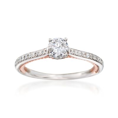 .75 ct. t.w. Diamond Engagement Ring in 14kt Two-Tone Gold, , default