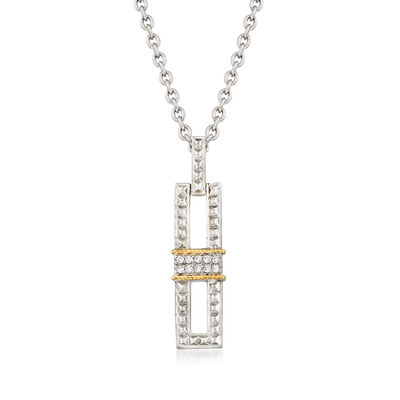 "Andrea Candela ""La Romana"" .14 ct. t.w. Diamond Necklace in Sterling Silver and 18kt Gold, , default"