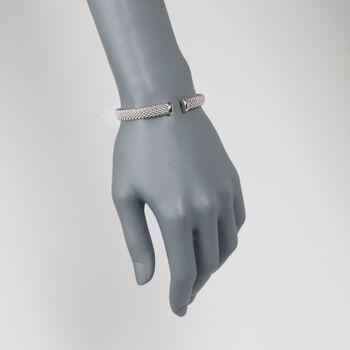 """Phillip Gavriel """"Popcorn"""" Sterling Silver and 18kt Rose Gold Cuff Bracelet. 7"""", , default"""