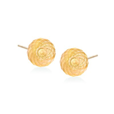 3.00 ct. t.w. Citrine Bead Stud Earrings in 14kt Yellow Gold, , default