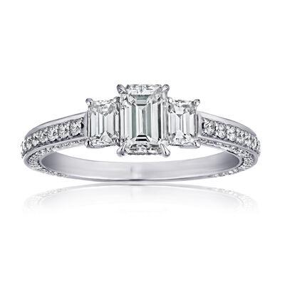 1.50 ct. t.w. Diamond Three-Stone Ring in Platinum, , default