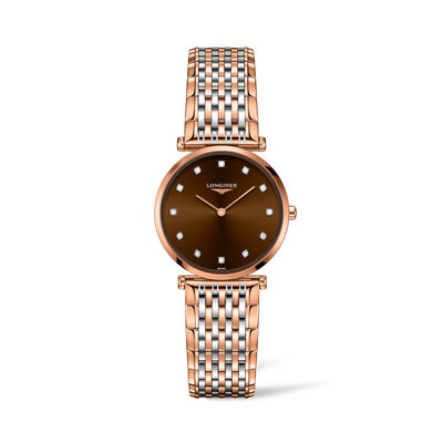Longines La Grande Classique Women's 29mm Stainless Steel and 18kt Rose Gold-Plated Watch
