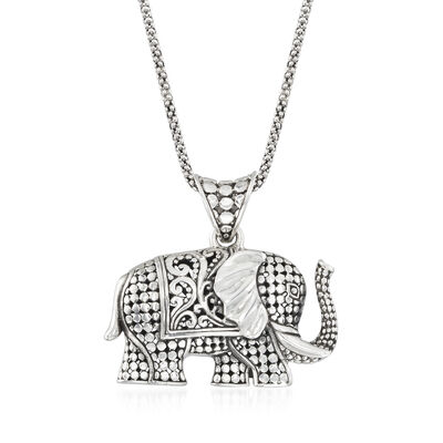 Silver Necklaces. Image Featuring Sterling Silver Elephant Necklace. 932678