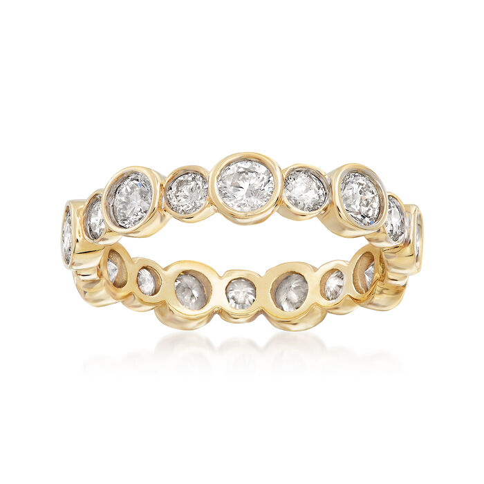 2.00 ct. t.w. Bezel-Set Diamond Eternity Band in 14kt Yellow Gold