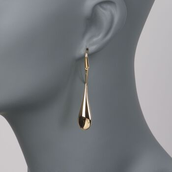 Roberto Coin 18kt Yellow Gold Teardrop Wire Earrings, , default