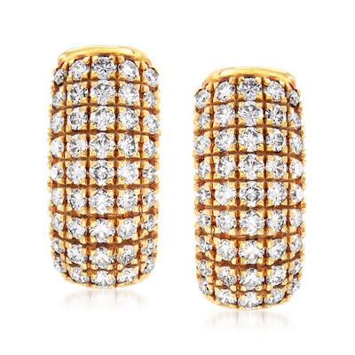 C. 1990 Vintage 2.25 ct. t.w. Diamond Drop Earrings in 18kt Yellow Gold, , default