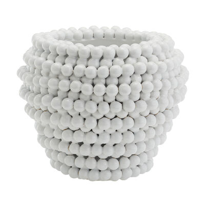 Pompom Ceramic Decorative Vase/Planter, , default