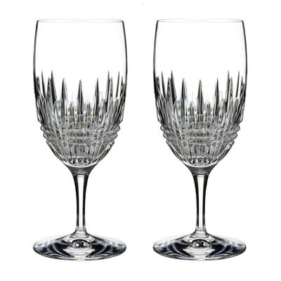 "Waterford Crystal ""Diamond Essence"" Set of 2 Lismore Iced Beverage Glasses"