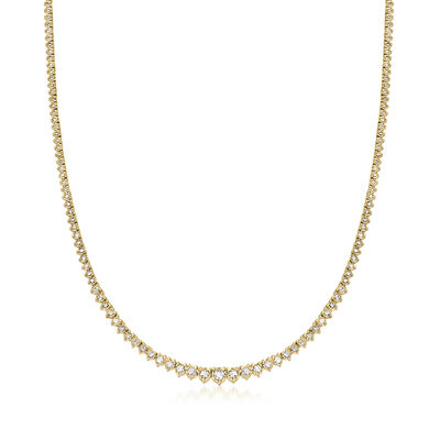 3.00 ct. t.w. Diamond Tennis Necklace in 18kt Gold Over Sterling, , default