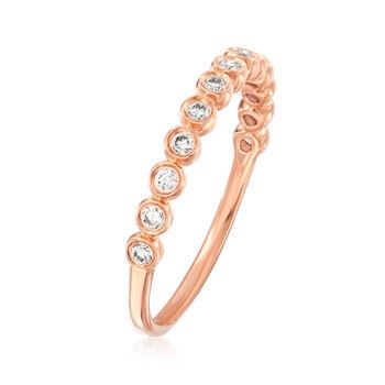 Henri Daussi .21 ct. t.w. Diamond Wedding Ring in 18kt Rose Gold