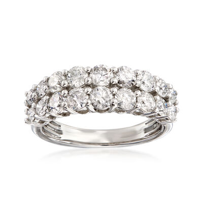 2.00 ct. t.w. Diamond Double-Row Ring in Platinum, , default