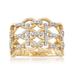 .50 ct. t.w. Diamond Basketweave Ring in 14kt Yellow Gold, , default