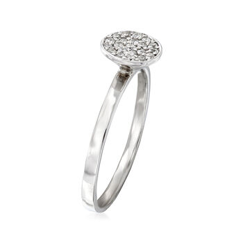 C. 1990 Vintage .20 ct. t.w. Pave Diamond Circle Ring in 14kt White Gold. Size 6.5, , default