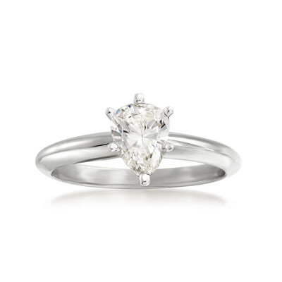 .88 Carat Pear-Shaped Diamond Ring in 14kt White Gold, , default